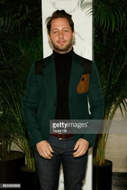 Derek Blasberg attends the Vanity Fair And Saks Fifth Avenue 2017 International BestDressed List Party at Academy Mansion on October 19 2017 in New...