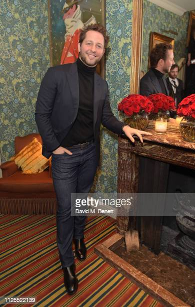 Derek Blasberg attends the Victoria Beckham x YouTube Fashion Beauty after party at London Fashion Week hosted by Derek Blasberg David Beckham at...