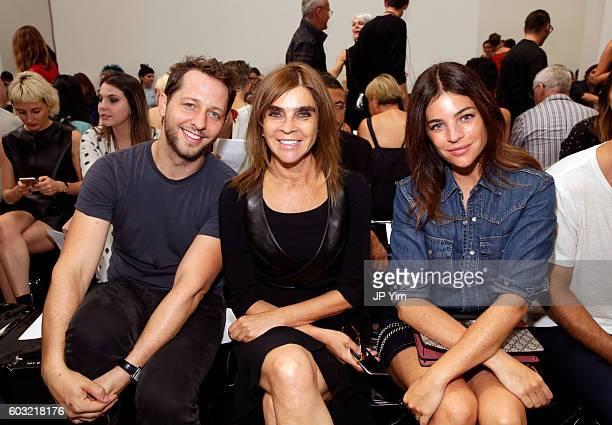 Derek Blasberg Carine Roitfeld and Julia Restoin Roitfeld attend the Proenza Schouler fashion show during New York Fashion Week on September 12 2016...