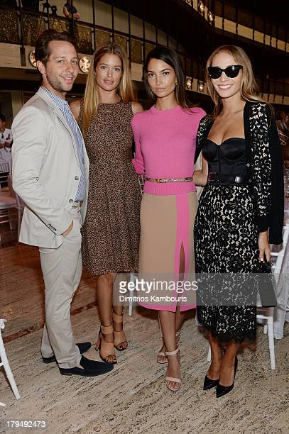 Derek Blasberg Doutzen Kroes Lily Aldridge and Harley VieraNewton attend The Couture Council of The Museum at the Fashion Institute of Technology...