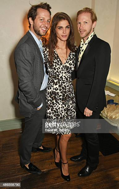 Derek Blasberg Elisa Sednaoui and Jan Olesen attend a private dinner celebrating the Charlotte Olympia SS16 Collection during LFW at Daphne's on...