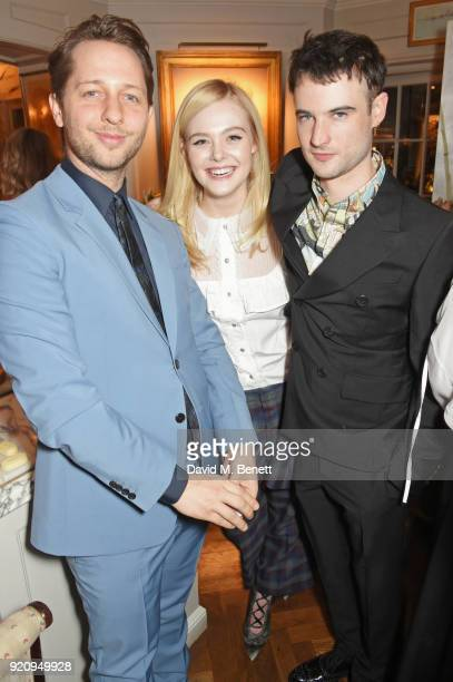 Derek Blasberg Elle Fanning and Tom Sturridge attend the LOVE x Miu Miu Women's Tales dinner hosted by Katie Grand and Elle Fanning at Loulou's on...