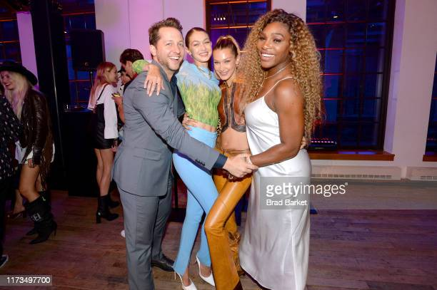 Derek Blasberg Gigi Hadid Bella Hadid and Serena Williams celebrate the launch of YouTubecom/Fashion on September 09 2019 in New York City