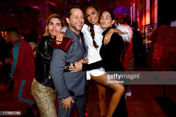 Derek Blasberg Joan Smalls and Lily Aldridge celebrate the launch of YouTubecom/Fashion on September 09 2019 in New York City