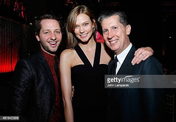 Derek Blasberg Karlie Kloss and Stefano Tonchi attend The New Museum Annual Spring Gala at Cipriani Wall Street on April 1 2014 in New York City