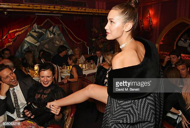 Derek Blasberg Katie Grand and Bella Hadid attend LOVE Magazine and Marc Jacobs LFW Party to celebrate LOVE 165 collector's issue of LOVE and Berlin...