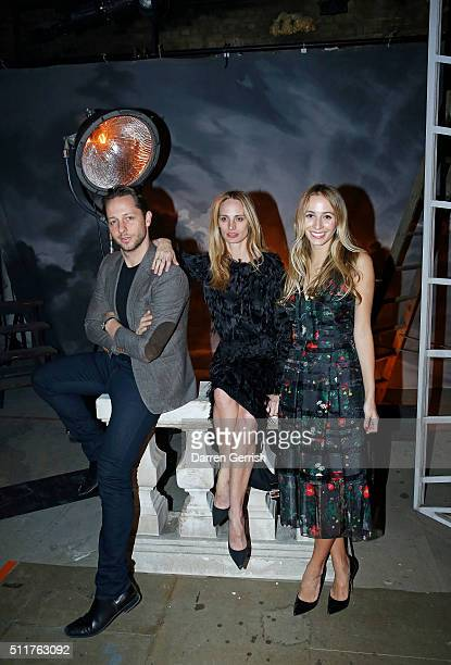 Derek Blasberg Lauren Santo Domingo and Harley Viera Newton attend the Erdem x Selfridges Wrap Party during London Fashion Week Autumn/Winter 2016/17...