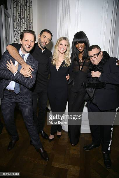 Derek Blasberg Riccardo Tisci Kristina OÕNeill Naomi Campbell and Alber Elbaz attend the party for Dasha Zhukova' cover for Wall Street Journal on...
