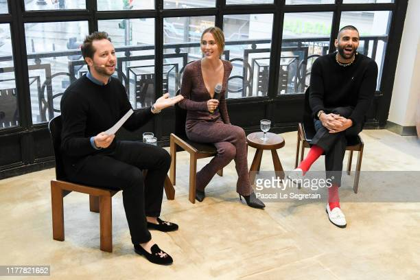 Derek Blasberg Teddy Quinlivan and Phillip Picardi speak on stage at the BoF 500 Symposium at Galeries Lafayette on September 29 2019 in Paris France