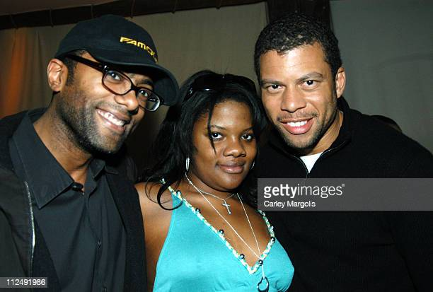 Derek Corley Zoe Jackson and Al Reynolds during DJ Beverly Bond Spins at Bunny Chow Tuesdays at Cain March 29 2005 at Cain in New York City New York...