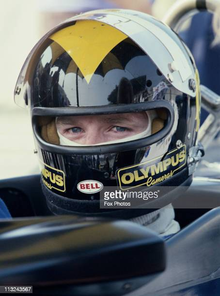 Derek Daly sits aboard the Team Tissot Ensign N177 Ford Cosworth DFV 30 V8 during the British Grand Prix on 16th July 1978 at the Brands Hatch...