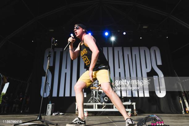Derek DiScanio of State Champs performs on stage during day 3 of Download festival 2019 at La Caja Magica on June 30 2019 in Madrid Spain