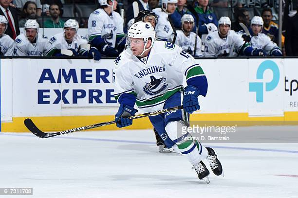 Derek Dorsett of the Vancouver Canucks skates on ice during a game against the Los Angeles Kings at STAPLES Center on October 22 2016 in Los Angeles...