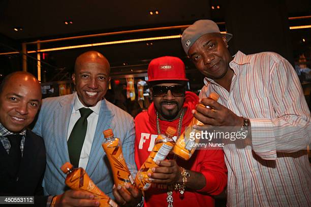 Derek Dudley Kevin Liles Jermaine Dupri and Michael Mauldin attend the Go N'Syde 40/40 Bottle Launch Party at the 40 / 40 Club on June 12 2014 in New...