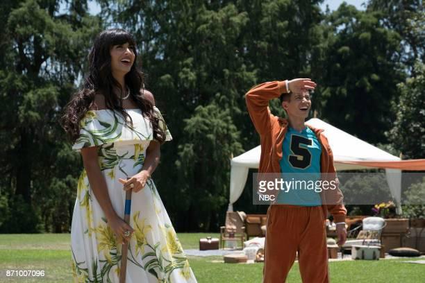 PLACE 'Derek' Episode 208 Pictured Jameela Jamil as Tehani Manny Jacinto as Jianyu