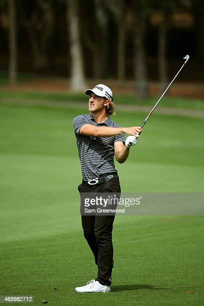 Derek Ernst plays a shot on the 16th hole during the first round of the Valspar Championship at Innisbrook Resort Copperhead Course on March 12 2015...