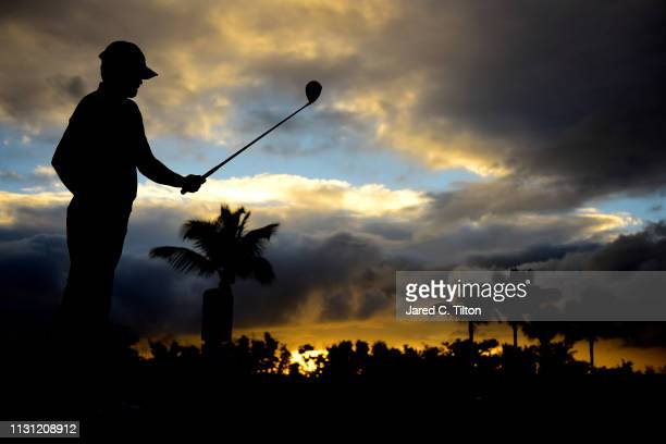 Derek Fathauer looks on from the first tee during the first round of the Puerto Rico Open at Coco Beach Golf and Country Club on February 21 2019 in...