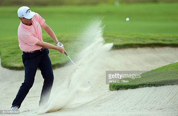 Derek Fathauer plays his third shot on the second hole during the second round of the Puerto Rico Open at Coco Beach on March 25 2016 in Rio Grande...