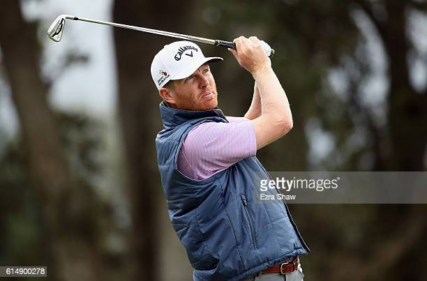 Derek Fathauer tees off on the second hole during the third round of the Safeway Open at the North Course of the Silverado Resort and Spa on October...