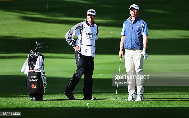Derek Fathauer wiats to play his second shot on the second hole during the second round of the CareerBuilder Challenge in Partnership with The...