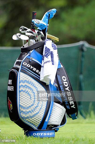 Derek Fathauer's golf bag on the sixth hole during the first round of the Greenbrier Classic at the Old White TPC on July 2 2015 in White Sulphur...