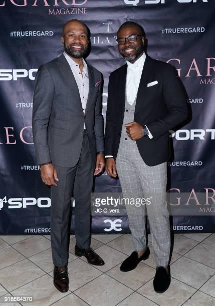 Derek Fisher and Chinedu Ezemenari attend Regard Magazine 2018 NBA AllStar PreParty hosted by Derek Fisher at Soho House on February 15 2018 in West...