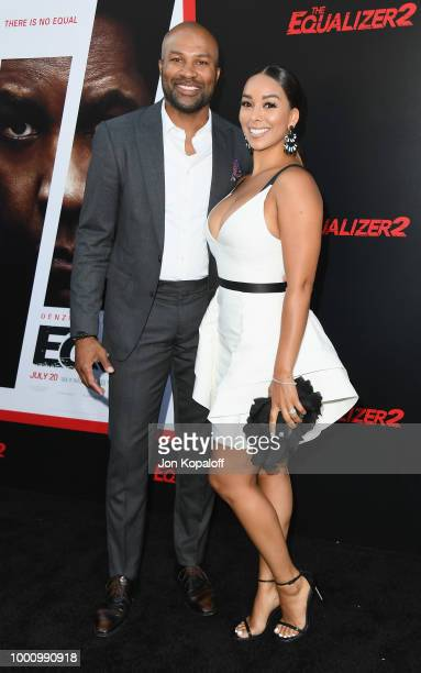 Derek Fisher and Gloria Govan attend premiere of Columbia Picture's 'Equalizer 2' at TCL Chinese Theatre on July 17 2018 in Hollywood California