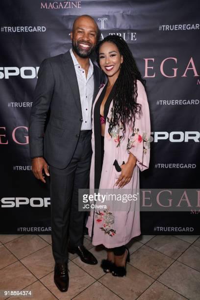 Derek Fisher and Gloria Govan attend Regard Magazine 2018 NBA AllStar PreParty hosted by Derek Fisher at Soho House on February 15 2018 in West...