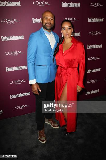 Derek Fisher and Gloria Govan attend the Entertainment Weekly's 2017 PreEmmy Party at the Sunset Tower Hotel on September 15 2017 in West Hollywood...