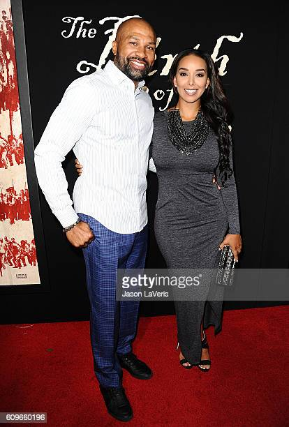 Derek Fisher and Gloria Govan attend the premiere of 'The Birth of a Nation' at ArcLight Cinemas Cinerama Dome on September 21 2016 in Hollywood...