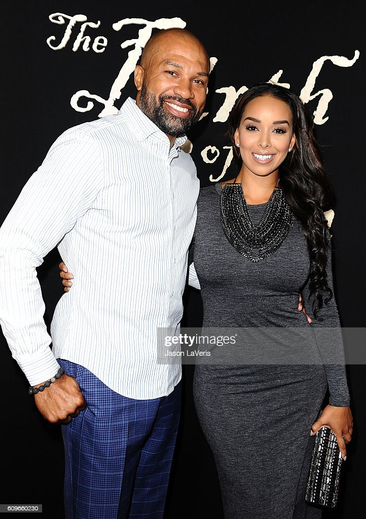 Derek Fisher and Gloria Govan attend the premiere of 'The Birth of a Nation' at ArcLight Cinemas Cinerama Dome on September 21, 2016 in Hollywood, California.