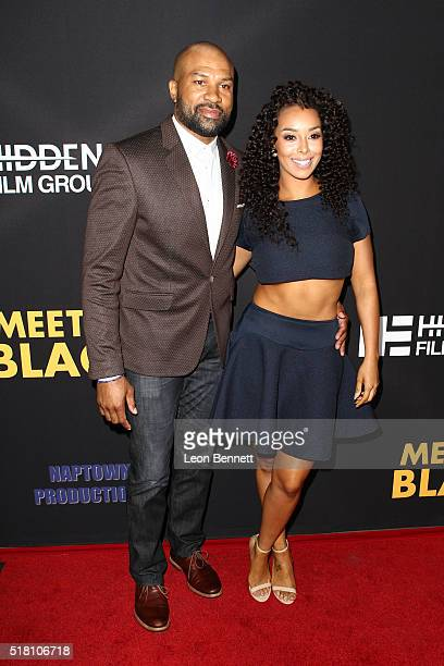 """Derek Fisher and Gloria Govan attends the Premiere Of Freestyle Releasing's """"Meet The Blacks"""" at ArcLight Hollywood on March 29, 2016 in Hollywood,..."""