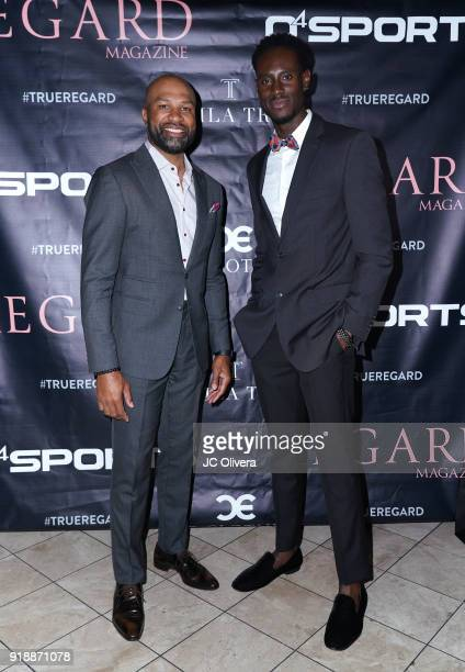 Derek Fisher and Quintin Williams attend Regard Magazine 2018 NBA AllStar PreParty hosted by Derek Fisher at Soho House on February 15 2018 in West...