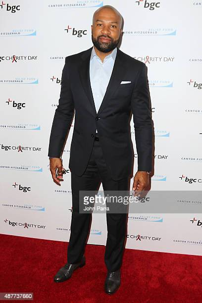 Derek Fisher attends Annual Charity Day hosted by Cantor Fitzgerald and BGC at BGC Partners INC on September 11 2015 in New York City