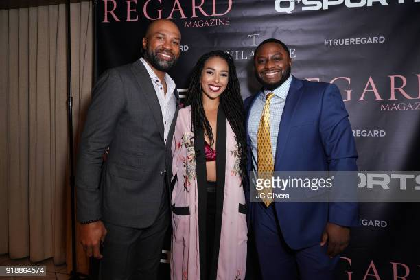 Derek Fisher Gloria Govan and guest attend Regard Magazine 2018 NBA AllStar PreParty hosted by Derek Fisher at Soho House on February 15 2018 in West...