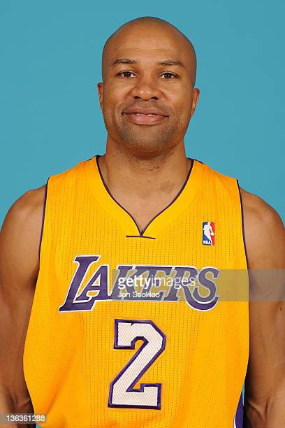 Derek Fisher of the Los Angeles Lakers poses for a photo during Media Day at Toyota Sports Center on December 11 2011 in El Segundo California NOTE...