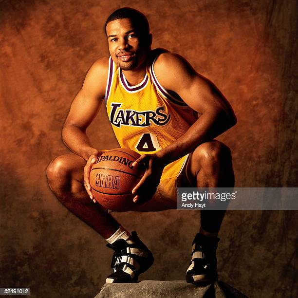 Derek Fisher of the Los Angeles Lakers poses for a portrait on September 1 1997 in Florida NOTE TO USER User expressly acknowledges and agrees that...