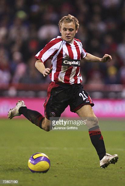 Derek Geary of Sheffield United during the Barclays Premiership match between Sheffield United and Aston Villa at Bramall Lane on December 11 2006 in...