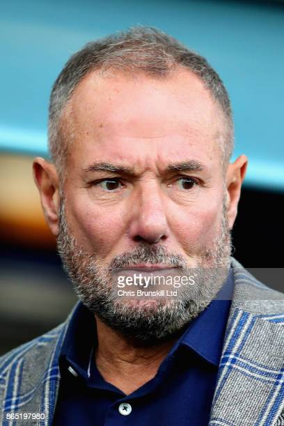 Derek Hatton looks on from the crowd during the Premier League match between Everton and Arsenal at Goodison Park on October 22 2017 in Liverpool...