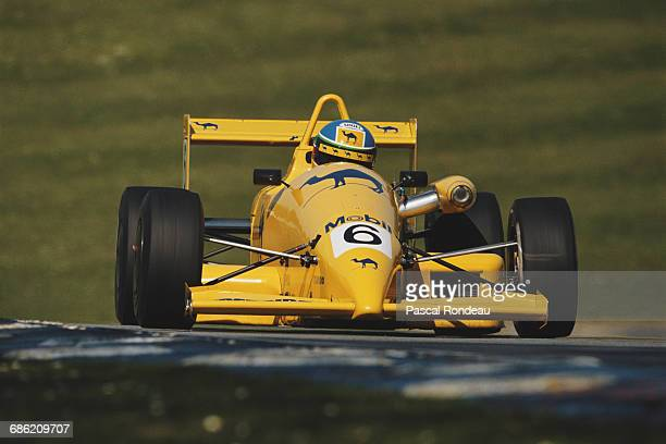 Derek Higgins of Ireland drives the Camel Paul Stewart Racing Reynard 903 Mugen Honda during the British Formula 3 Championship race on 29 April 1990...