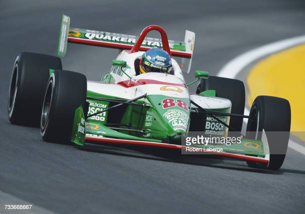Derek Higgins of Ireland drives the Quaker State Lola T97/20 Buick during the Championship Auto Racing Teams Dayton Indy Lights Championship Series...