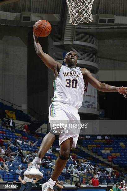 Derek Hood of the Mobile Revelers goes to the basket during game one of the NBDL Finals against the Fayetteville Patriots at the Cumberland Crown...