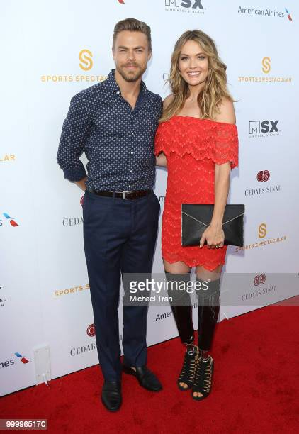 Derek Hough and Amy Purdy arrive to the 33rd Annual CedarsSinai Sports Spectacular Gala held on July 15 2018 in Los Angeles California