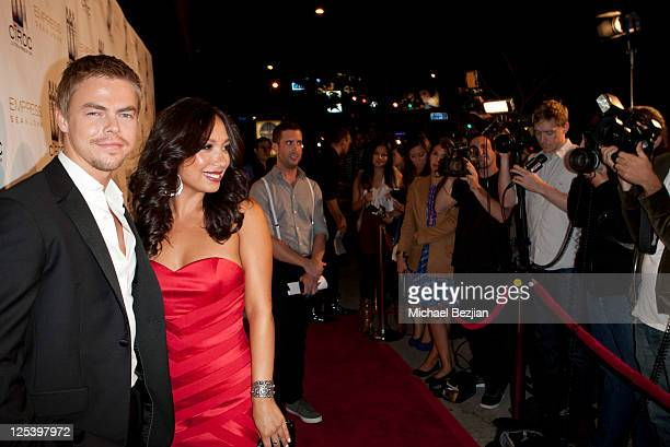 Derek Hough and Cheryl Burke attend the Pre-Emmy Event With Sean John's EMPRESS Hosted by Cheryl Burke And Derek Hough at Trousdale on September 16,...
