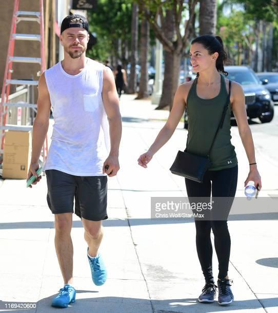 Derek Hough and Hayley Erbert are seen on September 18 2019 at Los Angeles