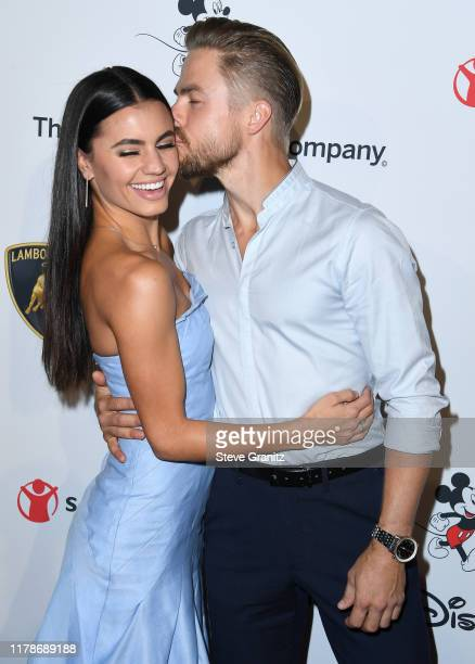 Derek Hough and Hayley Erbert arrives at the Save the Children's Centennial Celebration Once In A Lifetime Presented By The Walt Disney Company at...