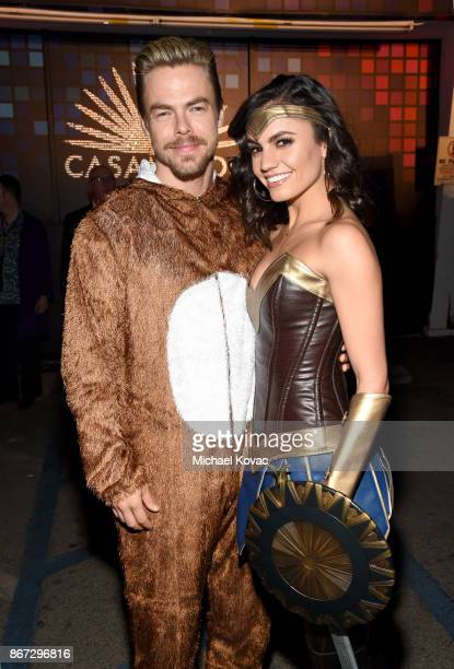 Derek Hough and Hayley Erbert attend Casamigos Halloween Party on October 27 2017 in Los Angeles California