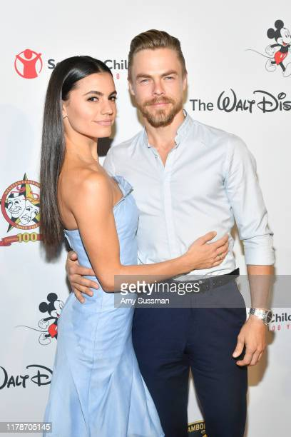 Derek Hough and Hayley Erbert attend Save the Children's Centennial Celebration Once In A Lifetime Presented By The Walt Disney Company at The...