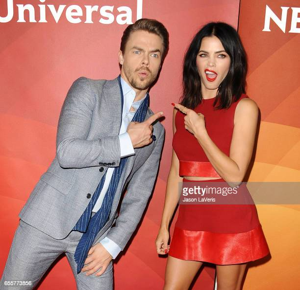 Derek Hough and Jenna Dewan Tatum attend the 2017 NBCUniversal summer press day The Beverly Hilton Hotel on March 20, 2017 in Beverly Hills,...