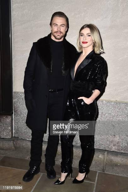 Derek Hough and Julianne Hough attends the 87th Annual Rockefeller Center Christmas Tree Lighting Ceremony at Rockefeller Center on December 04, 2019...